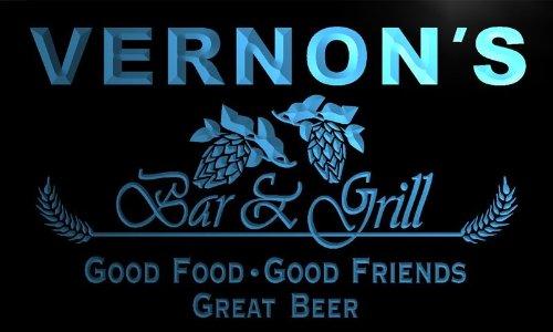 pr186-b Vernon's Bar & Grill Beer Wine Neon Light (Vernon Wine)
