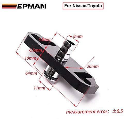 1Pcs Epman Black Fuel Regulator Delivery Adapter for Sard Regulator fit for Nissan/Toyota TK-OL6351 (1PC)