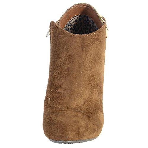 Zapatos Xti Antelina Combinada Mod 28350 Camello Beige