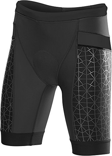 "TYR Women's 8"" Competitor Tri Short (Black"
