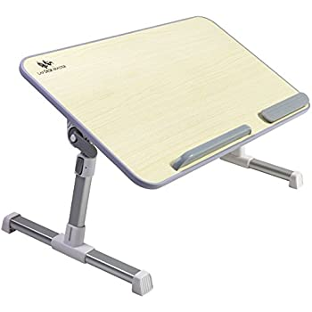 Adjustable Laptop Table By Lap Desk Master U2013 Multifunctional Bed Tray U2013  Changeable Height U0026 Angle