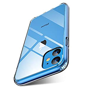 FLOVEME iPhone 11 Case-Clear – Compatible with Apple iPhone 11 Cases Slim Mobile Phone Case Hard PC Back Cover + TPU Bumper for iPhone-11 6.1 inch