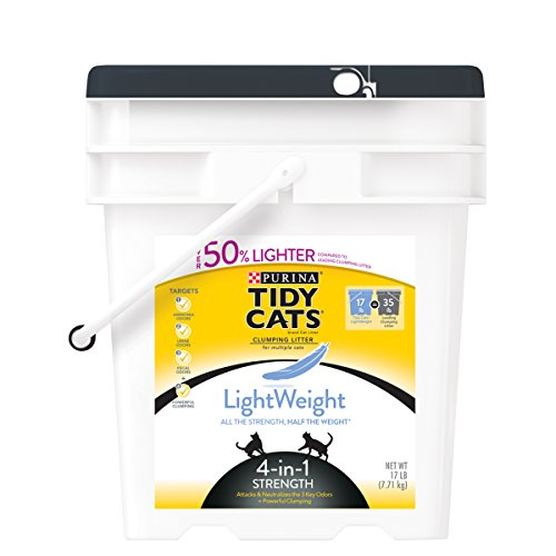 Tidy Cats Cat Litter, Clumping, 4-in-1 Strength, Lightweight, 17-Pound Pail, Pack of 1 (Cat Litter Seal compare prices)