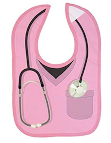 Embelle Baby Infant Girl Doctor Nurse Cotton Knit Bib Pink Scrubs
