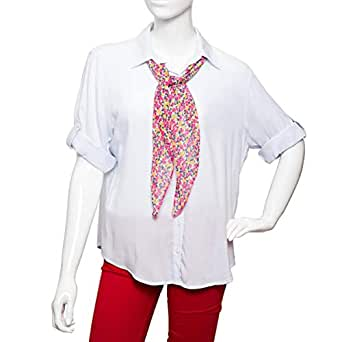 Big Dart White Viscose Shirt Neck Shirts For Women