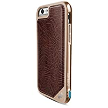 X-Doria Defense Lux Military Grade Drop Tested Protective Case for iPhone 6s Plus/6 Plus - Brown Croc