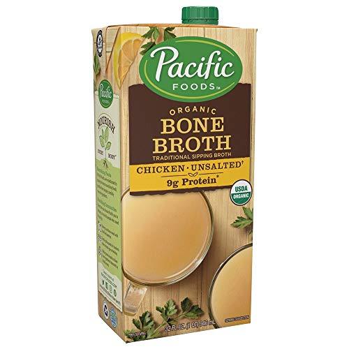 Organic Bone Broth, Original Chicken by Pacific Foods 32oz Cartons, 12-Pack (Organic Broth Pacific Chicken)