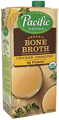 Organic Bone Broth, Original Chicken by Pacific Foods 32oz Cartons, 12-Pack