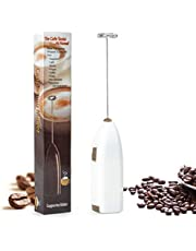 Milk Frother - Handheld Battery Operated Electric Foam Maker for Thick Frothed Milk in Seconds, Bulletproof Coffee, Lattes, Cappuccino, Hot Chocolate, Drink Mixer