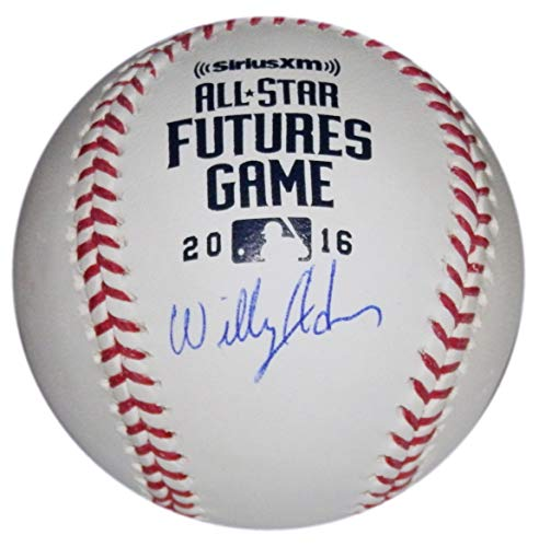 (2016 WILLY ADAMES SIGNED ALL-STAR FUTURES GAME MLB HOLO BASEBALL TAMPA BAY RAYS)