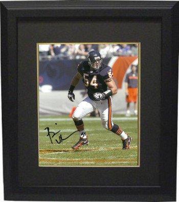 Brian Urlacher Signed Autograph Chicago Bears 8x10 Photo Custom Framed - Autographed NFL (Brian Urlacher Photograph)