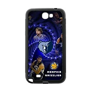Fashionable designed Samsung Galaxy Note 2 TPU Phone Case with Memphis Grizzlies-by Allthingsbasketball