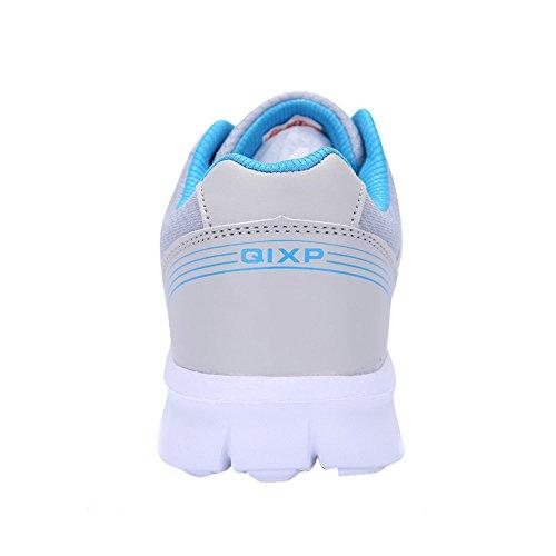Femmes Respirant Maille Respirante Tennis Athlétique Mode Sneakers Marche Sport Route Chaussures De Course Plus La Taille 4.5-10.5 Gris