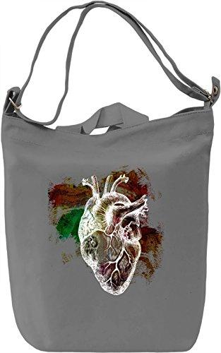 Broken Heart Borsa Giornaliera Canvas Canvas Day Bag| 100% Premium Cotton Canvas| DTG Printing|