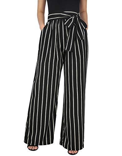 HDE Womens Plus Size Pants - Pants for Women Work Trousers Baggy Trouser Pant ()