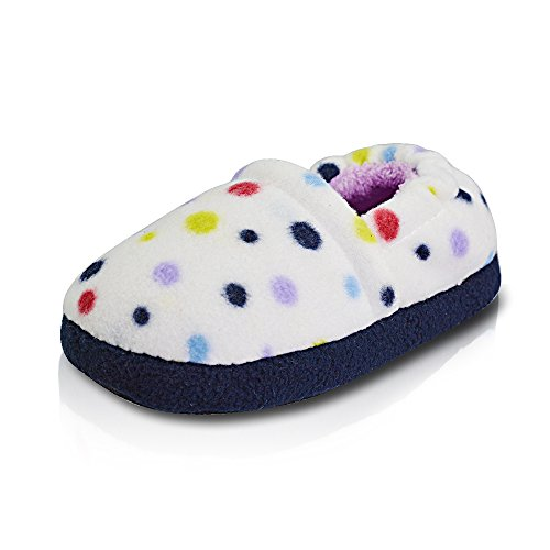 LA PLAGE Girl/Little Kid Winter Comfortable Warm Indoor Slippers with Hard Sole