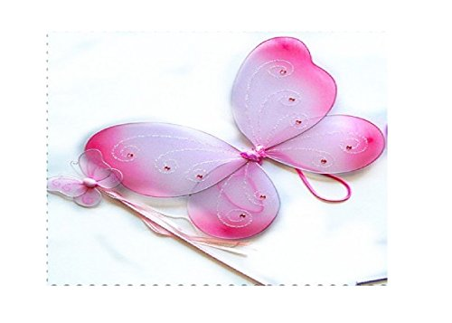 Cutie Collection Fairy Pixie Wings and Wand, Set of 2 Pieces ()