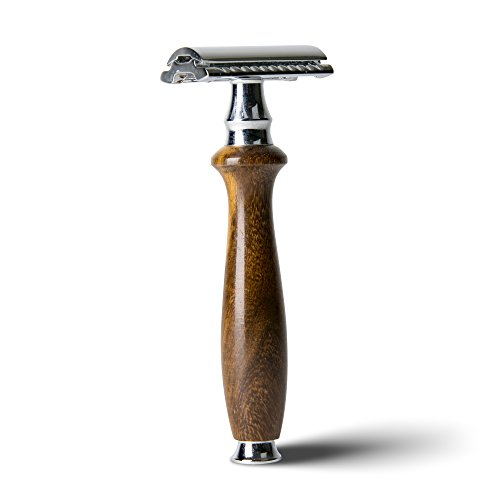 (Artisan Form Wooden Single Blade Safety Razor, Double Edge for Close Shave,)