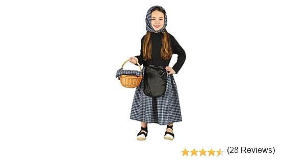 Guirca- Disfraz infantil de Castañera, Color negro, 5-6 años ...