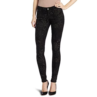 7 For All Mankind Women's Skinny Jean in Black and Grey supplier