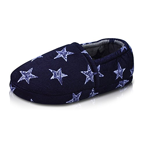 Image of LA PLAGE Kid's Anti-Slip Winter Warm Soft Plush House Slippers with Beautiful Star