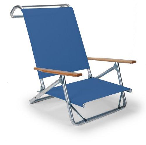 Telescope Casual Original Mini-Sun Chaise Folding Beach Arm Chair, Cobalt (Deck Boat Lounge Chairs)