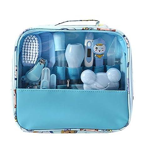 f/ür zu Hause und unterwegs Blau Baby Pflegeset Erstausstattung,Babypflegen f/ür Baby Lazder Babypflege-Set,13 Teile