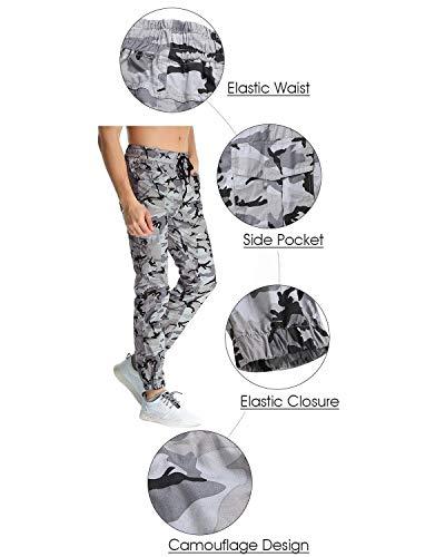 Pour Automne Printemps Hulday Les Pantalons Survêtement Simple Sport Fit Style De Hommes Extérieur Cargo À Tarnung Grau Long Camouflage r0Srz