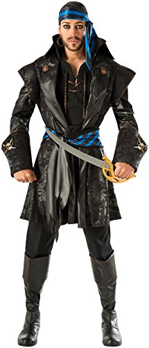 Men's Pirate Captain Costumes (Rubie's Costume Co Men's Captain Blackheart Costume, Multi, Standard)
