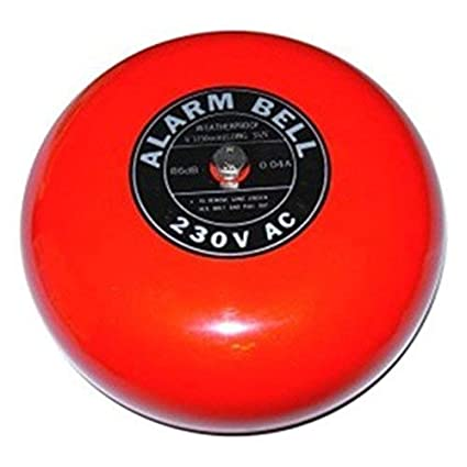 Fire Alarma Bell Fuego rlarm Campana sirena 20 cm 97dB 220 V ...