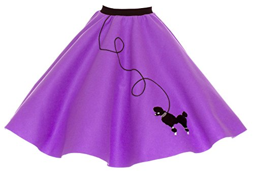 Homemade Plus Size Costumes Women (Hip Hop 50s Shop Adult Poodle Skirt Purple 3X/4X)