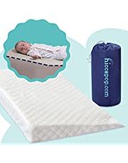 Safe Lift Universal Crib Wedge for Babies with Deluxe Soft Plush Water-Resistant Cover (New) | Baby Wedge for Cribs with Soft Fabric Cover | Roll and Go for Travel