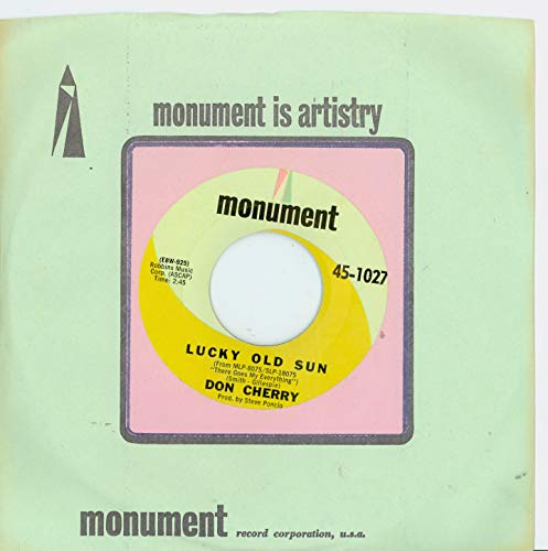 Lucky Old Sun | No Hearts And Flowers - Don Cherry (Monument Records 1967) Excellent to Mint (6 out of 10) - Vintage 45 RPM Vinyl Record ()