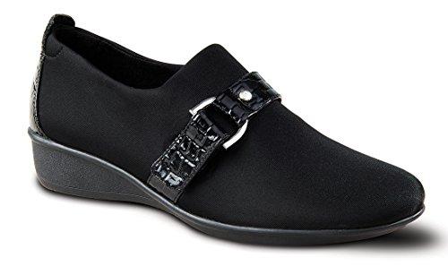 Hedre Rimini Dame Komfort Sko Med Avtagbare Fot Seng Og Justerbar Stropp: Gråbrun 7 Medium (b) Velcro