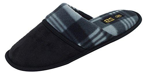 Nuove Pantofole Da Slitta In Camoscio Con Marchio Starbay Uomo Disponibili In 6 Colori Nero E Grigio