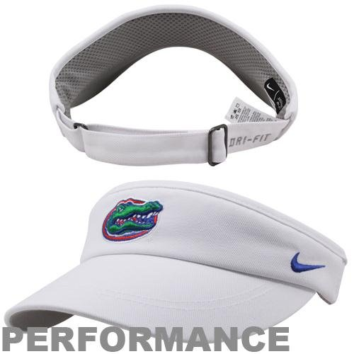 Sideline Nike Visor (Nike Florida Gators White Sideline Legacy Visor Adjustable)
