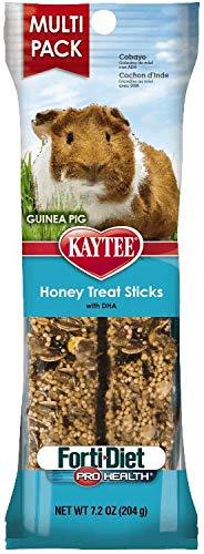 - Kaytee Forti-Diet Pro Health Guinea Pig Honey Stick Treat, 2 Per Pack (2 Sticks)