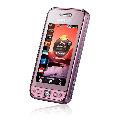 Samsung Quad Band Phones (Samsung S5230 Tocco Lite Unlocked Phone with Quad-Band GSM, 3 MP Camera MP3/Video Player, and MicroSD Slot--International Version with Warranty (Pink))