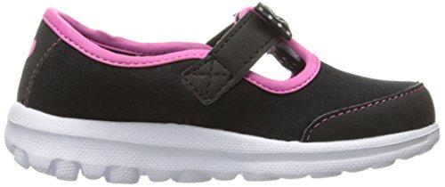 Skechers Go Walk Bitty Bow, Zapatillas de Deporte Exterior para Niñas Black (Black Hot Pink)