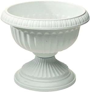Grecian Urn, White, 18-Inch