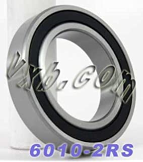 6007-2RSx2Pcs Deep Groove Ball Bearings Stable Performance and Cost-Effective XiKe 2 Pack 6007-2RS Bearings 35x62x14mm Double Seal and Pre-Lubricated