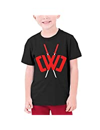 Youth Fashion Chad Wild Clay Custom T-Shirt Boy Girl Colorful Tops (Black,)