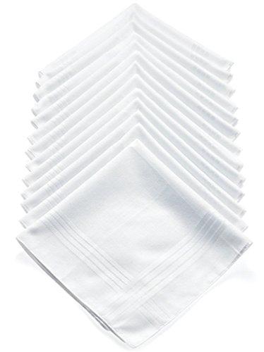 Geoffrey Beene 13 Pack Men's Fine Handkerchiefs 100% Cotton White by Geoffrey Beene (Image #1)