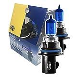 Hella 9004XE-TLL Focos Premium Tipo Xenón Kit de 2 Focos HELLA TLL 9004 / HB1. Número de Parte HELLA: 9004XE-TLL en Estuche, Azul Empaque de, 2 Empaque de