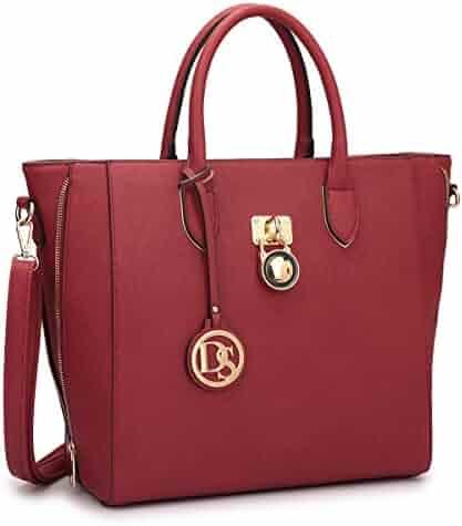 Dasein Women's Designer Large Laptop Top Handle Structured Tote Bag Satchel Handbag Shoulder Bag Purse