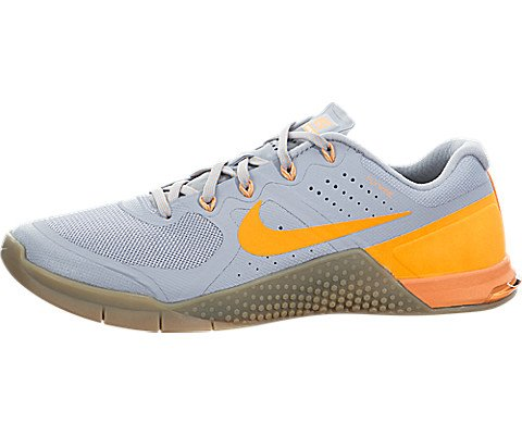 Nike Mens Metcon 2 Training Shoes Track Wolf Grey/Bright Citrus/Gum 819899-005 Size 10.5 by NIKE