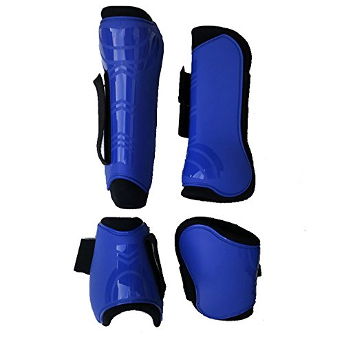 Moylor Open Front Tendon and Fetlock Boots Set for Horse Pack of 4