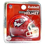Kansas City Chiefs Revolution'' Style Pocket Pro NFL Helmet''