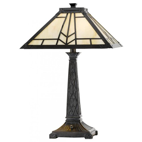 Cal Lighting BO-2096TB Table Lamp with Stained Glass Shades, Dark Bronze Finish (Cal Lighting Table Lamp compare prices)