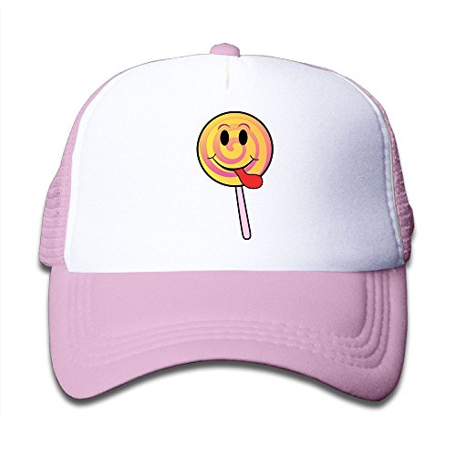 (Hanfjj Kefdk Lollipop Smiley Trucker Caps with Adjustable Kids Baseball Hats Boy and Girl)